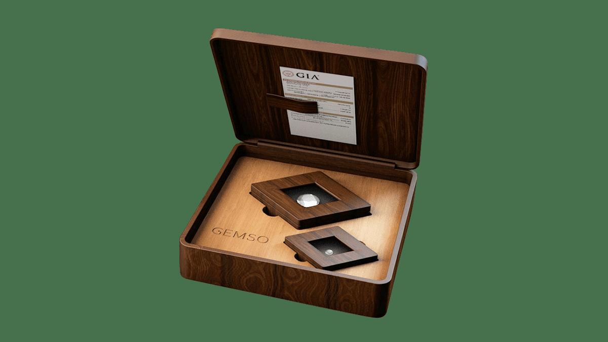 Projekt 3D drewniane pudełko na diamenty.