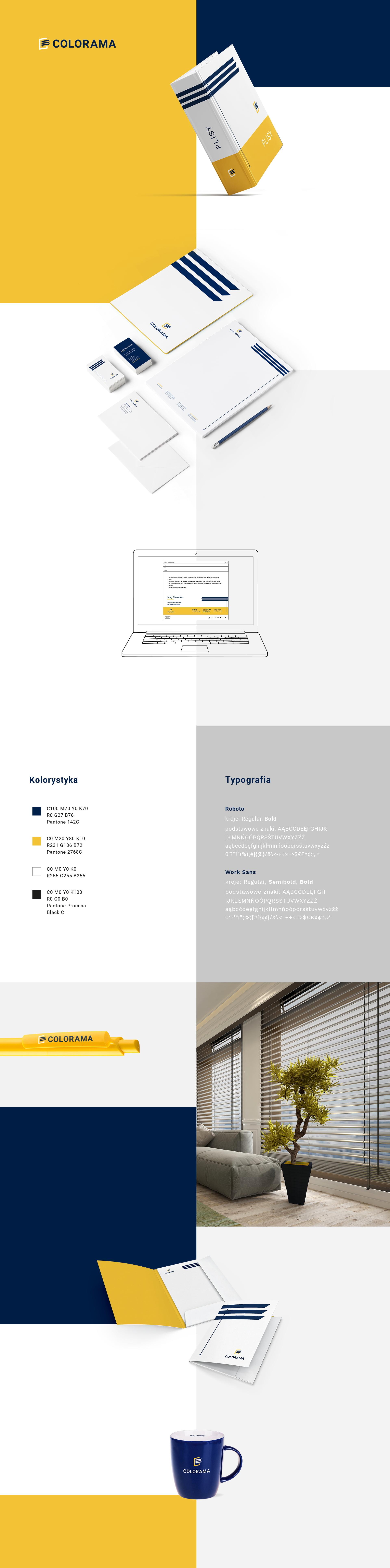 Projekty identyfikacji wizualnej dla marki Colorama