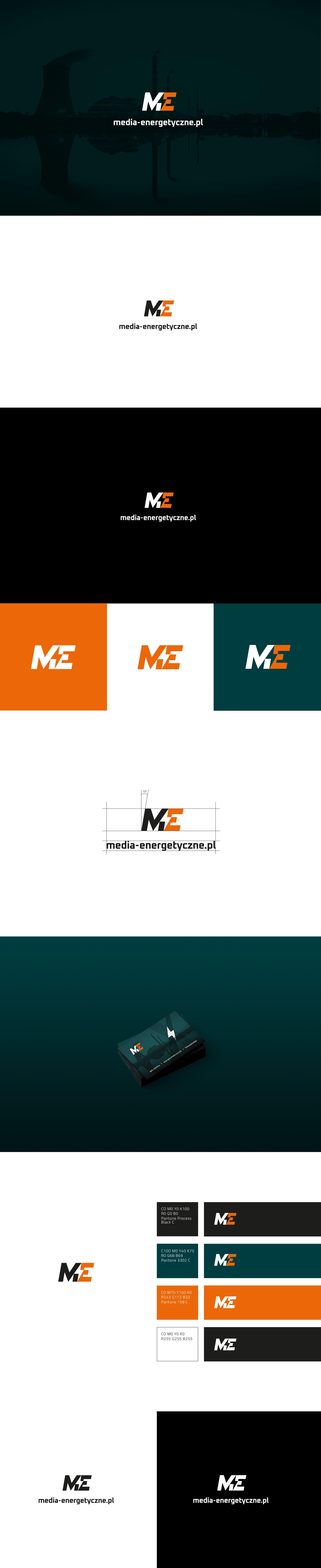 Projekt logo dlamarki zbranży energetycznej naróżnym tle.